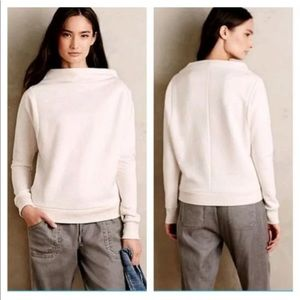 Anthro Postmark Envelope neck sweater oatmeal